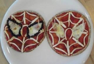 Spiderman Pita Pizzas
