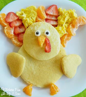 Thanksgiving Turkey Pancakes for Breakfast