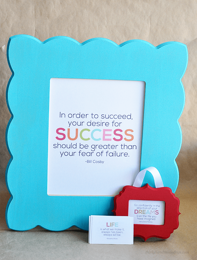 Interchangeable Printable Quotes & Frames