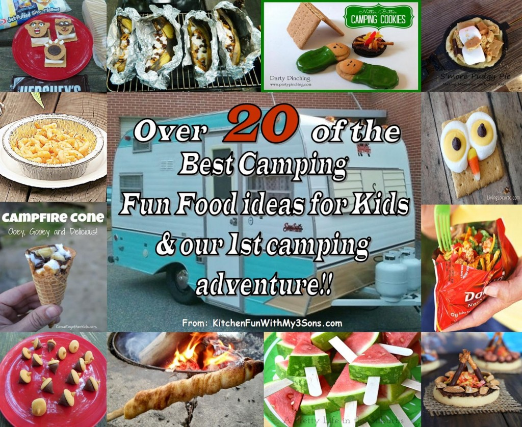 Our first Camping Trip & over 20 of the BEST Camping food ideas for kids