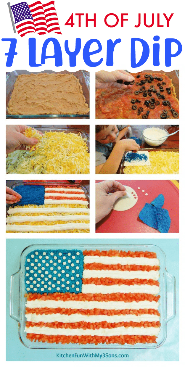 7 Layer Flag Dip for 4th of July