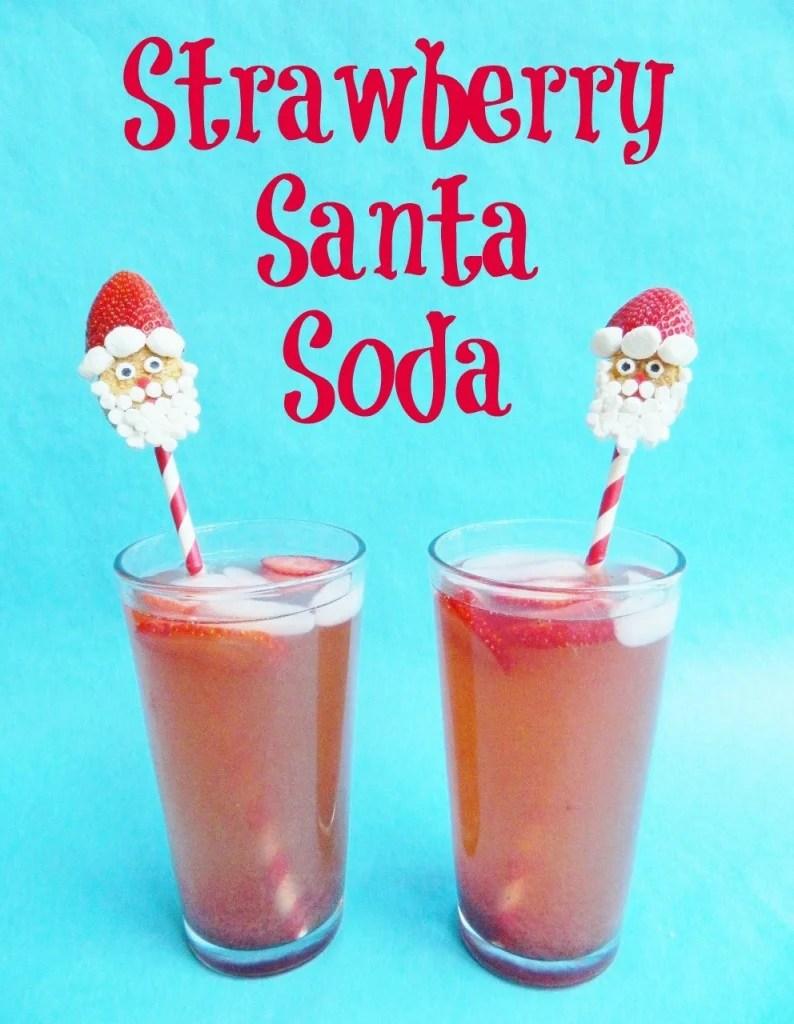 Strawberry Santa Soda