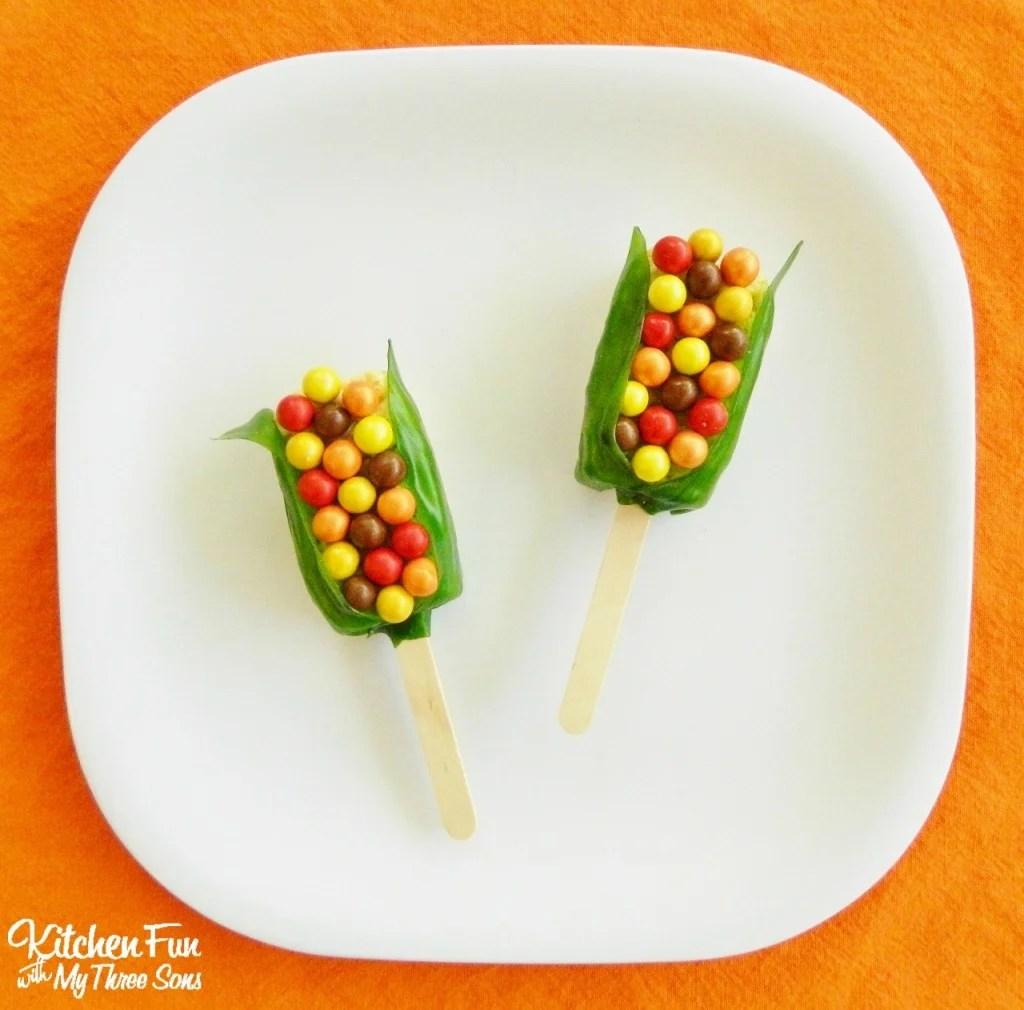 Thanksgiving Indian Corn Rice Krispies Treats