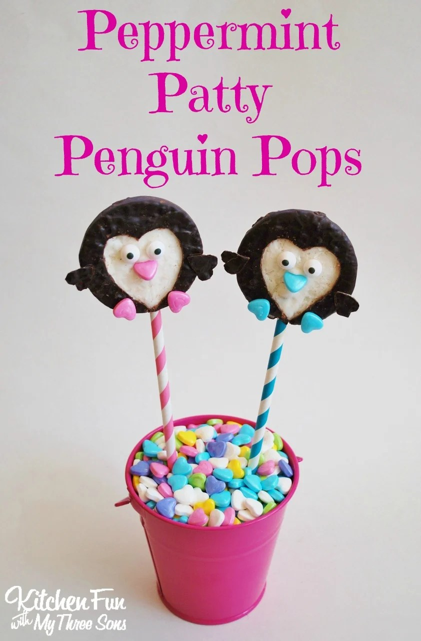 Peppermint Patty Penguin Pops for Valentines Day