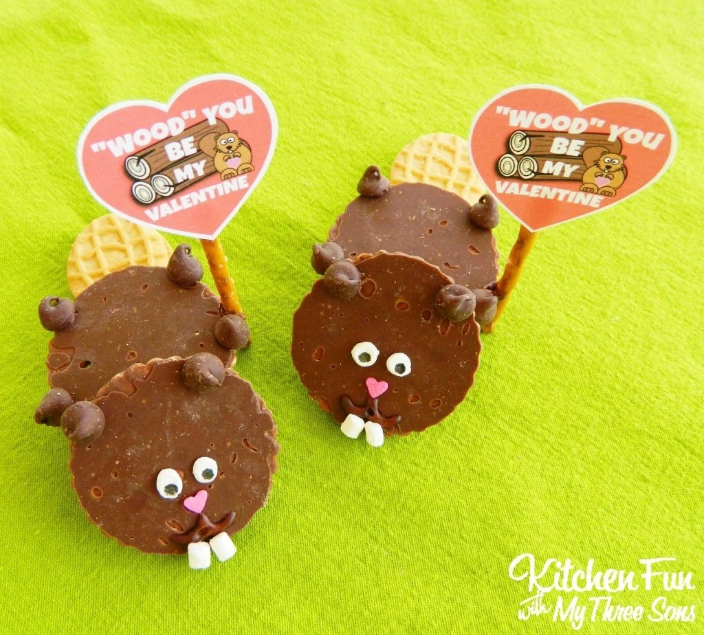 Valentine S Day Beaver Cookies With Free Printable