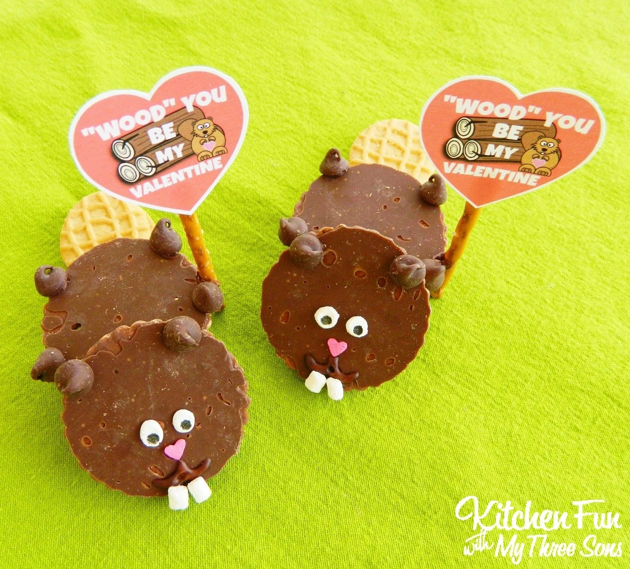 Valentines Day Beaver Cookies With FREE Printable