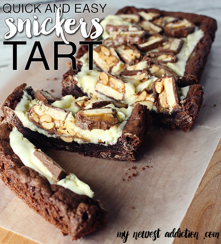 Quick and Easy Snickers Tart