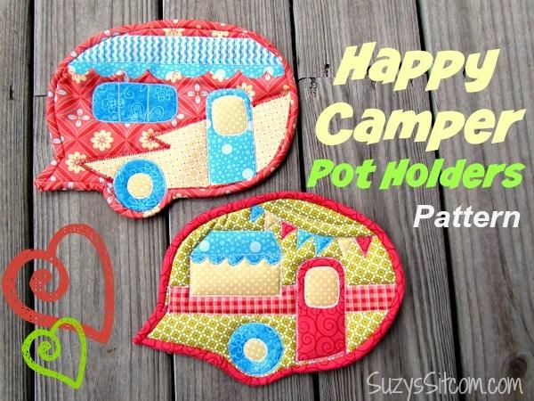 Happy Camper Pot Holders Pattern