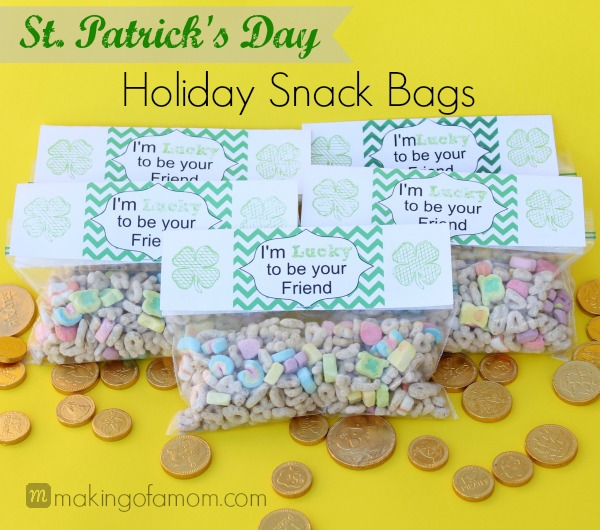 St Patrick's Day Snack Bags