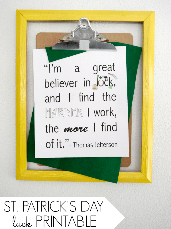 Luck Quote Free Printable