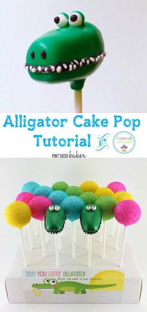 Alligator Cake Pops