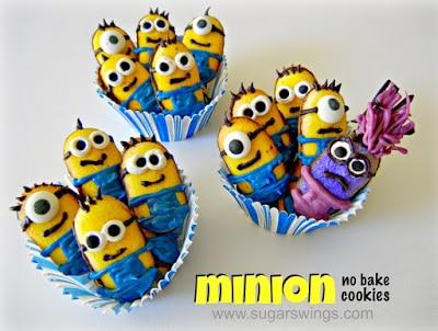 No Bake Minion Cookies
