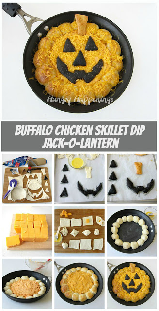 Jack-O-Latern Buffalo Chicken Dip