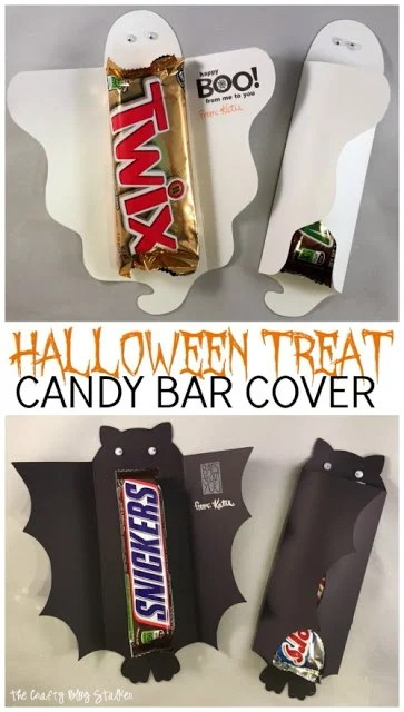 Halloween Candy Bar Holder Treats