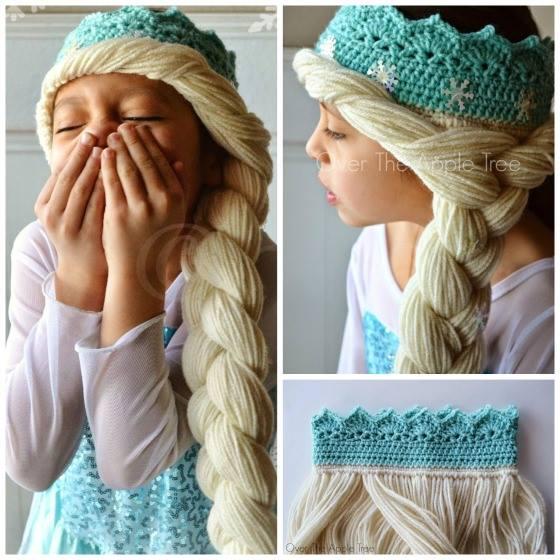 Frozen Elsa Crochet Yarn Hair