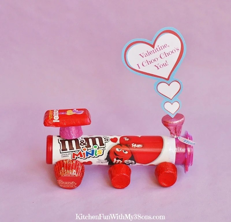 Valentines Day Candy Train With A Free Printable