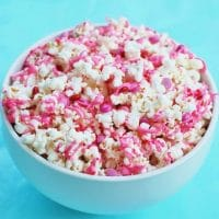 Valentine's Day Snack - White Chocolate Popcorn - Free Printable