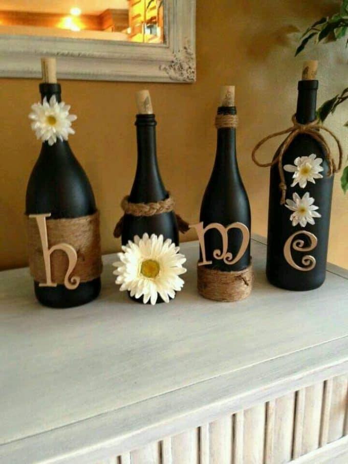 Home Wine Bottles Decor