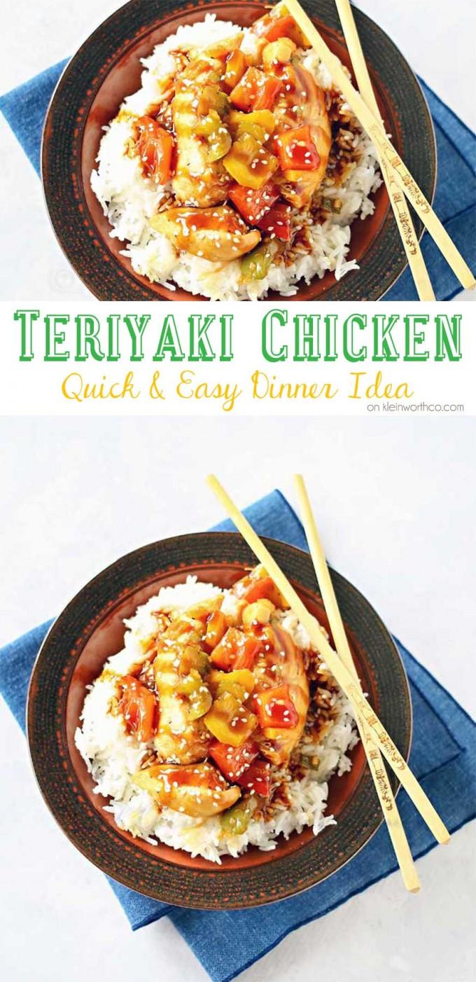 Easy Teriyaki Chicken Dinner
