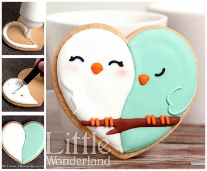 Valentine Love Bird Cookies