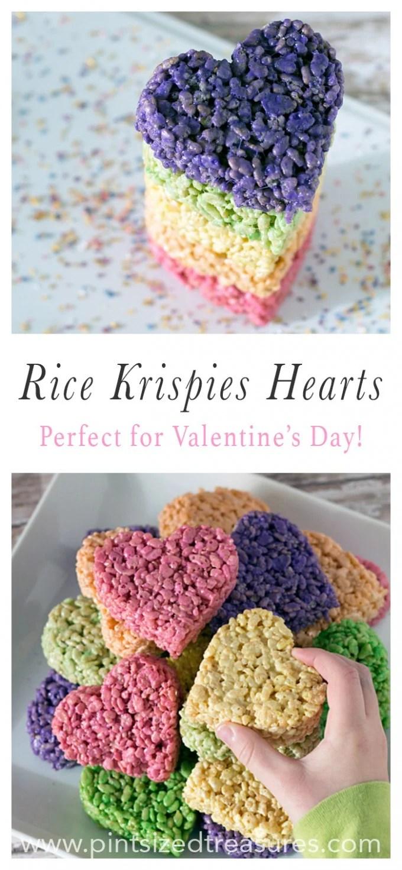 Valentine Rice Krispies Hearts