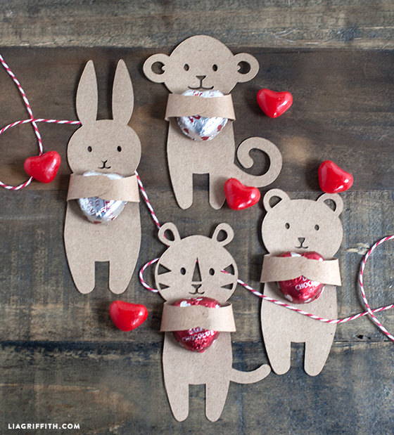 Valentine Candy Huggers Cards