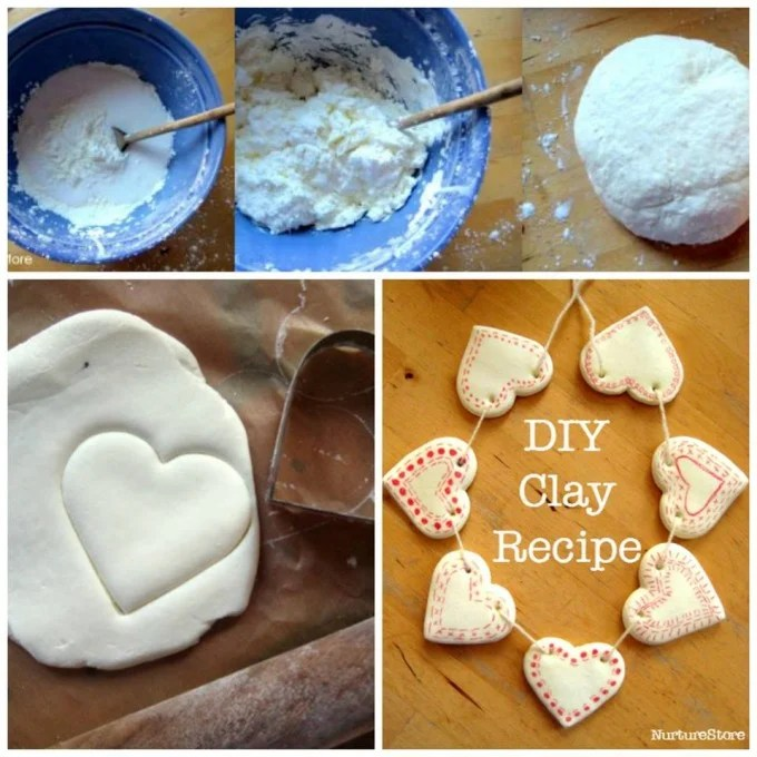 DIY Clay Hearts for Valentine's Day