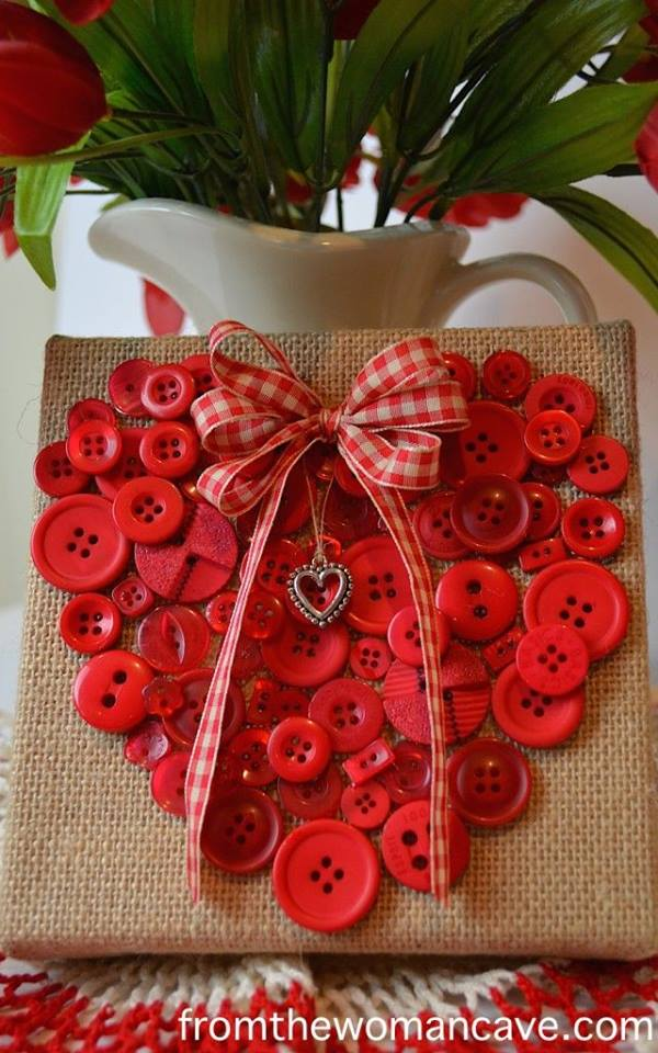 Valentine's Day Button Picture Craft