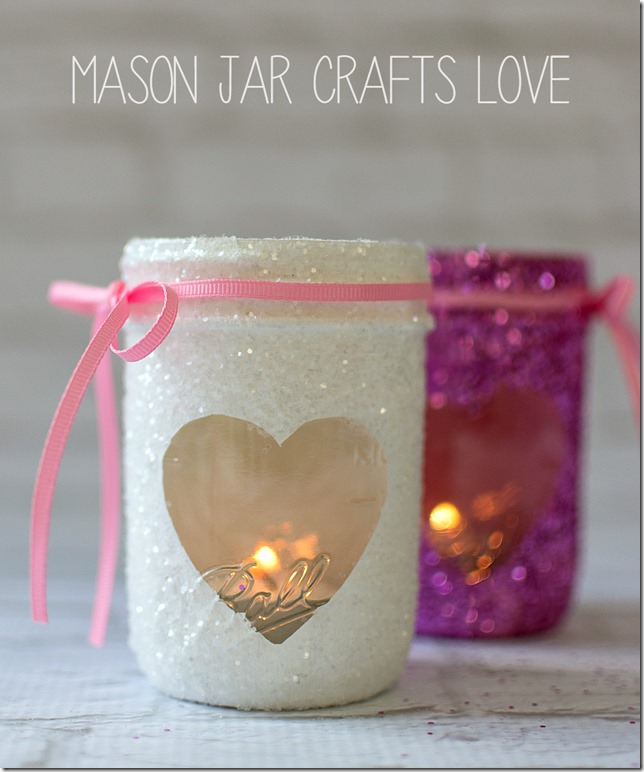 Heart Mason Jar Craft for Valentine's Day