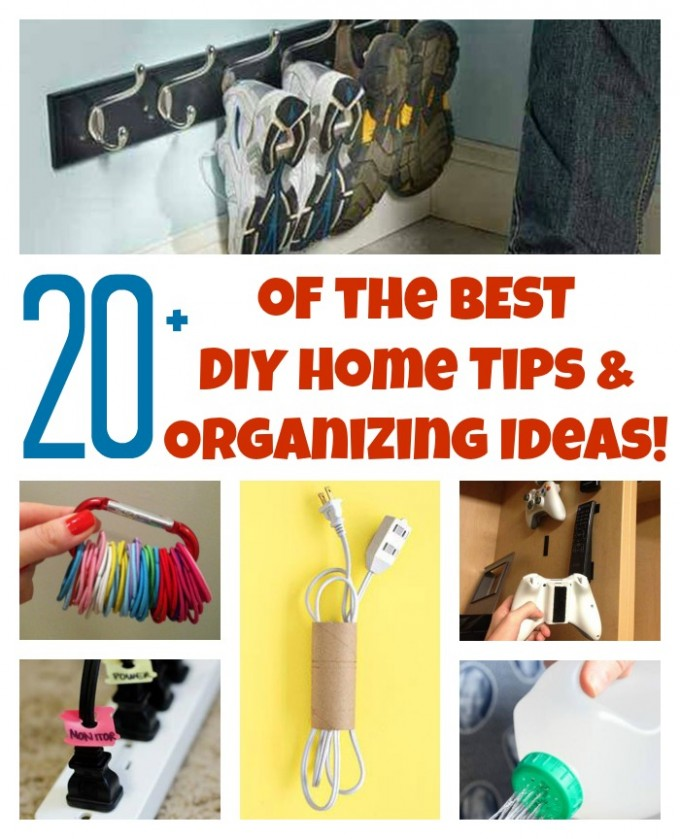 20+ of the BEST DIY Home Tips & Organization Ideas from KitchenFunWithMy3Sons.com