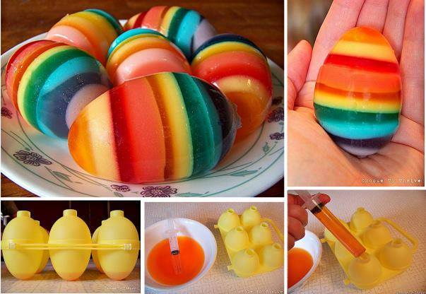 Rainbow Colored Easter Eggs