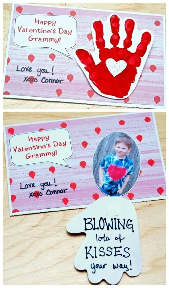 Valentine's Day Handprint Card