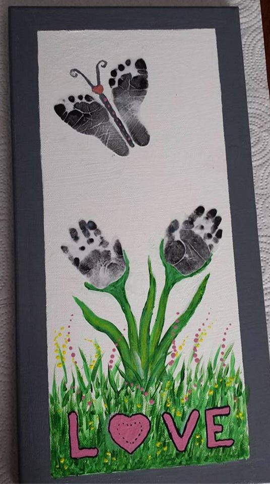 Butterfly Hand & Footprint Art