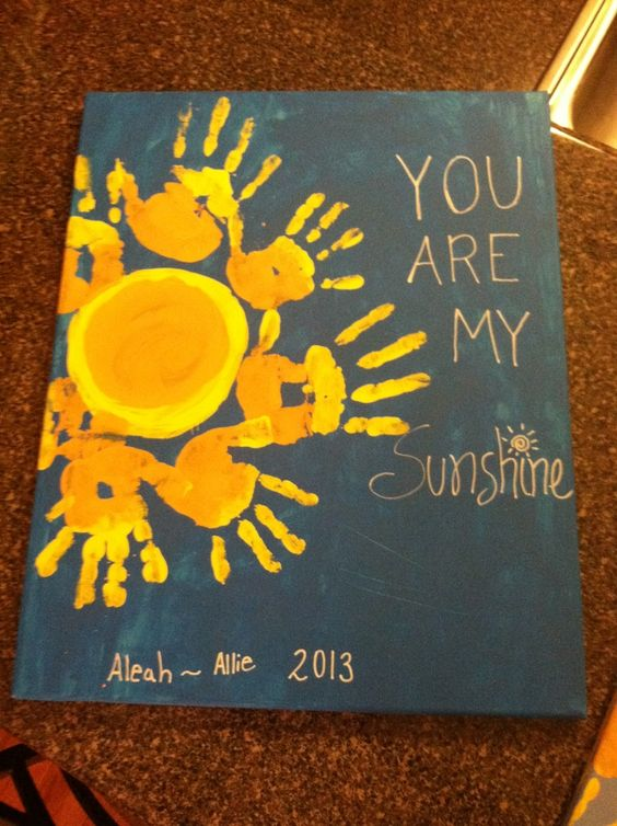 You Are My Sunshine Handprint Kids Art