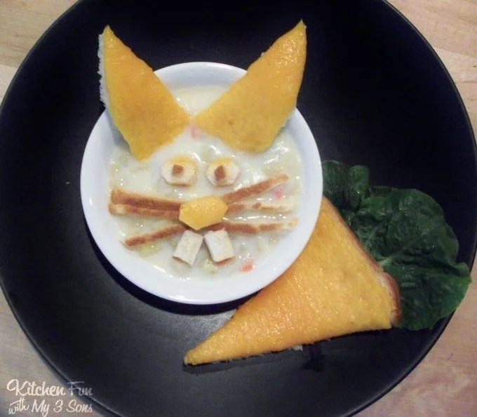Easter Bunny Potato Soup Dinner for the Kids from KitchenFunWithMy3Sons.com