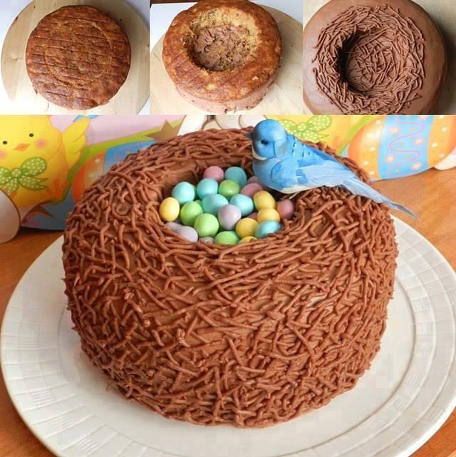 Baby Bird Nest Cake for Easter