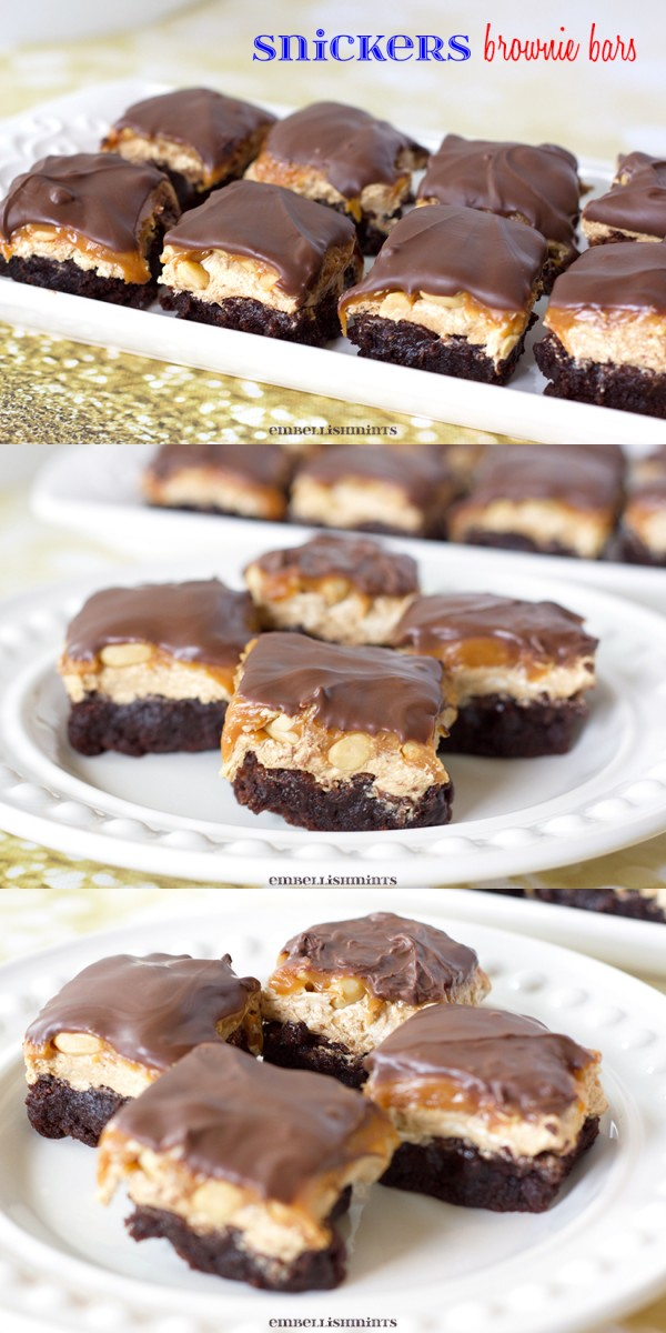 Snickers Brownie Bites