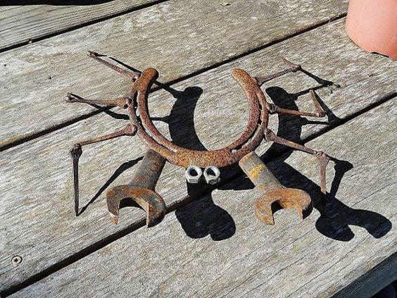 Horseshoe Crab Yard Art