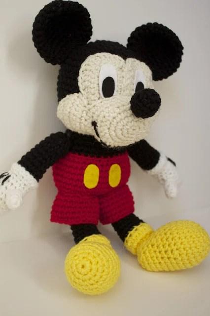 DIY Crochet Stuffed Mickey Mouse