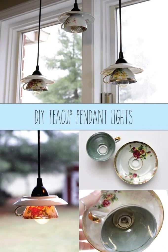 Teacup Pendant Lights
