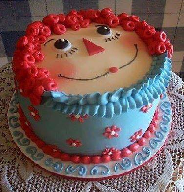 Raggedy Ann Cake...adorable!