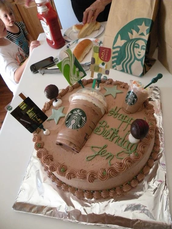 Starbucks Cake....these are the BEST Cake Ideas!