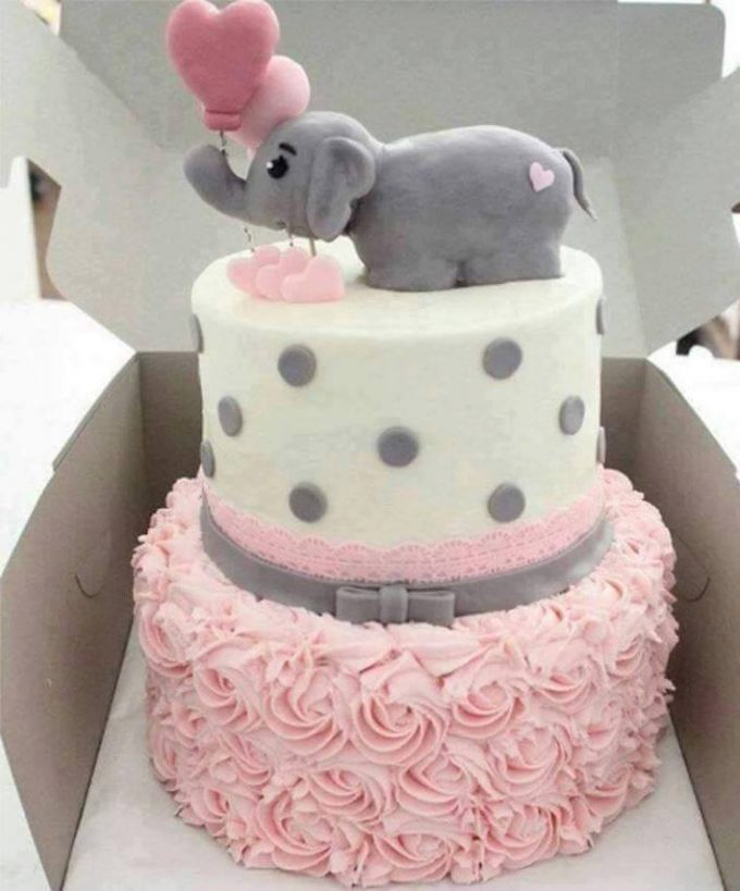 Baby Shower Elephant Cake...these are the BEST Cake Ideas!