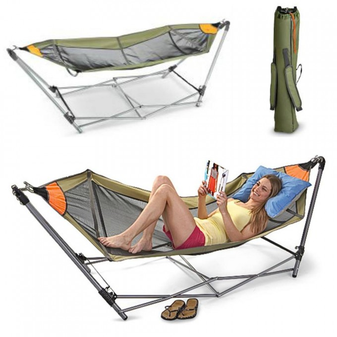 Portable Folding Hammock for Camping!