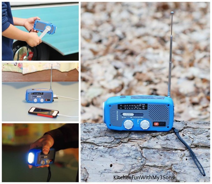 Solar Powered Radio, Flash Light, and Phone Charger