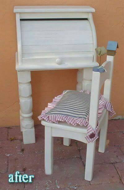 Turn a Bread Box into a Kids Desk...these are the BEST Upcycled & Repurposed Ideas!