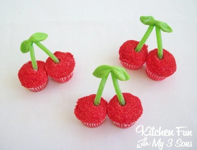 Cherry Cupcakes...these are the BEST Cupcake Ideas!