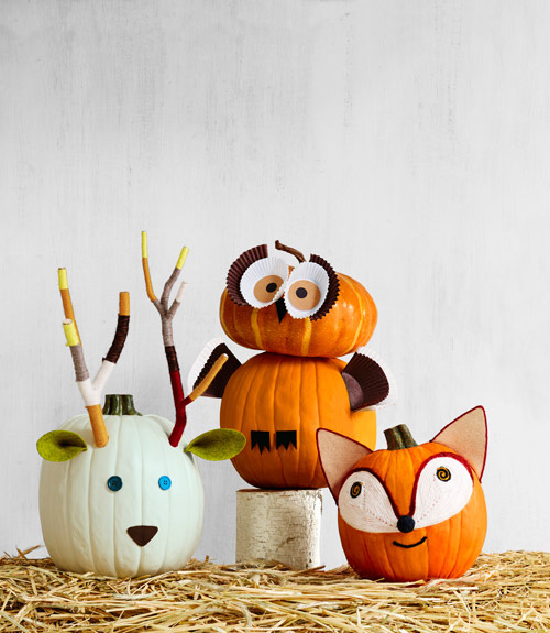 Deer, Owl, & Fox Pumpkins..these are the BEST Carved & Decorated Pumpkin Ideas for Halloween!