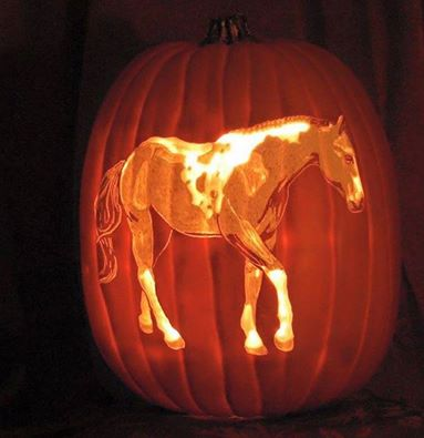 Carved Horse Pumpkin...these are the BEST DIY Decorated Pumpkin Ideas for Halloween!