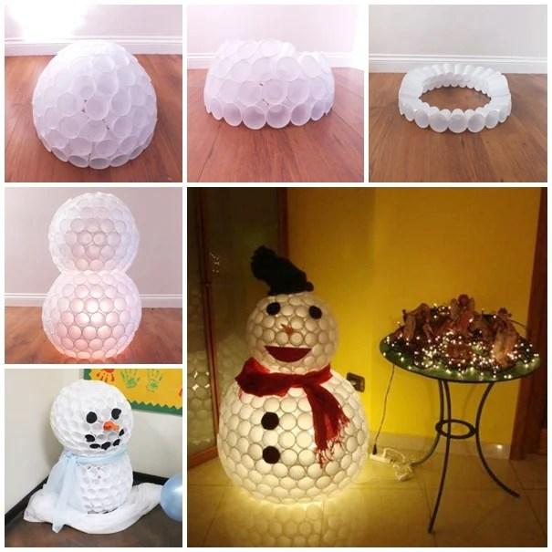 Bonhomme de neige en plastique
